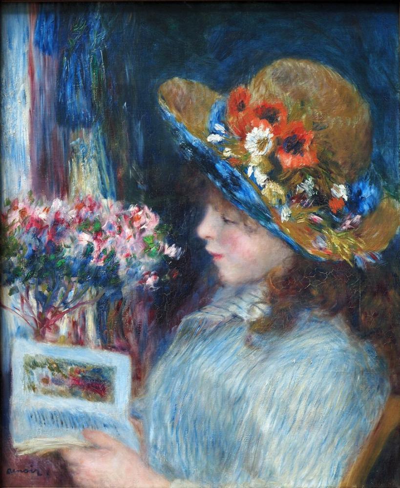 Pierre Auguste Renoir Lesendes Mädchen, Canvas, Pierre Auguste Renoir, kanvas tablo, canvas print sales