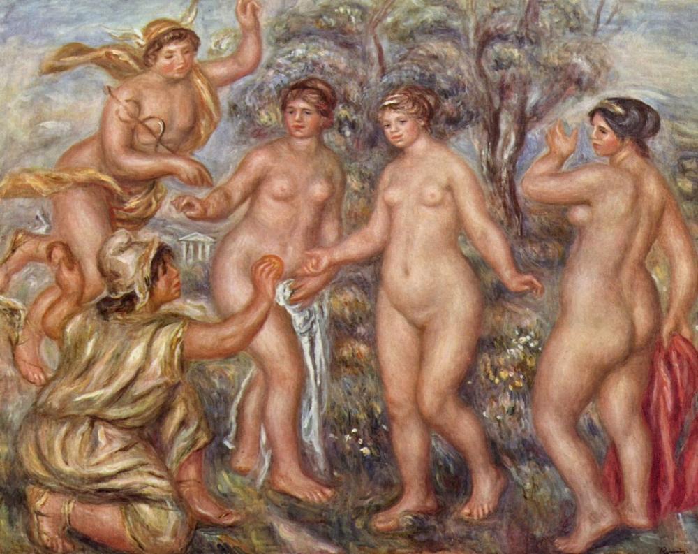 Pierre Auguste Renoir The Judgement Of Paris, Canvas, Pierre Auguste Renoir, kanvas tablo, canvas print sales