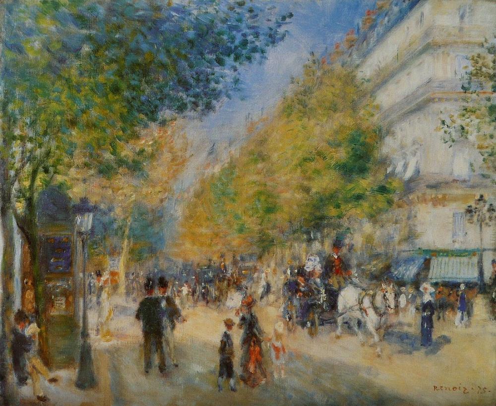 Pierre Auguste Renoir Les Grands Boulevards, Canvas, Pierre Auguste Renoir, kanvas tablo, canvas print sales