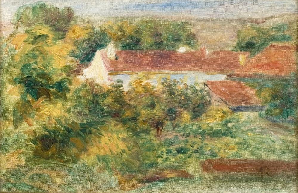 Pierre Auguste Renoir Les Maisons Rouges, Canvas, Pierre Auguste Renoir, kanvas tablo, canvas print sales