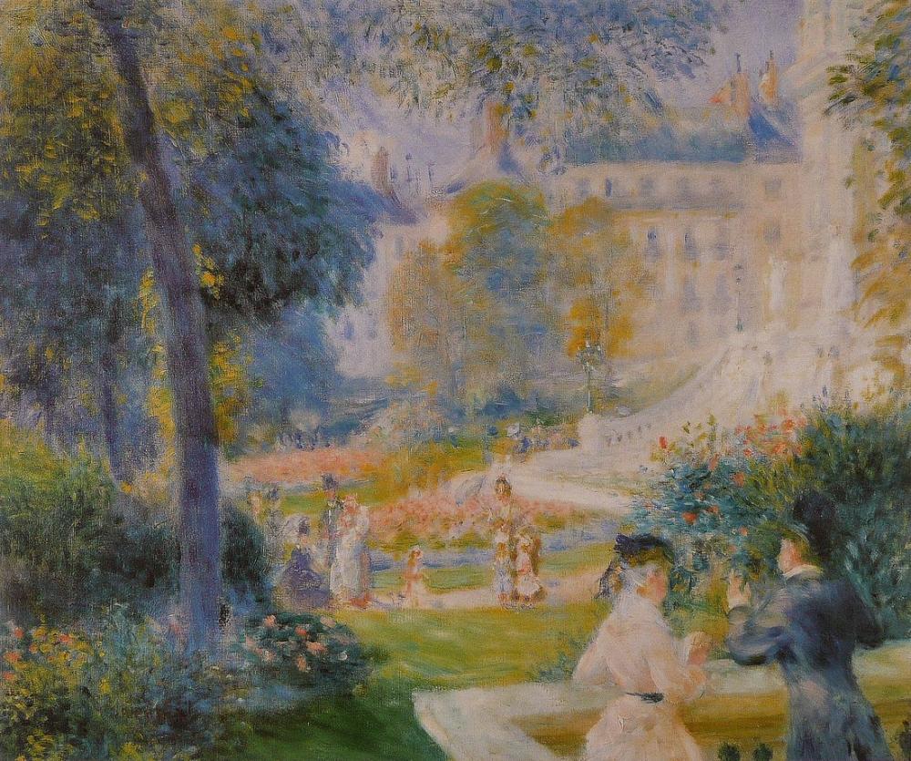 Pierre Auguste Renoir Le Square De La Trinite, Canvas, Pierre Auguste Renoir, kanvas tablo, canvas print sales