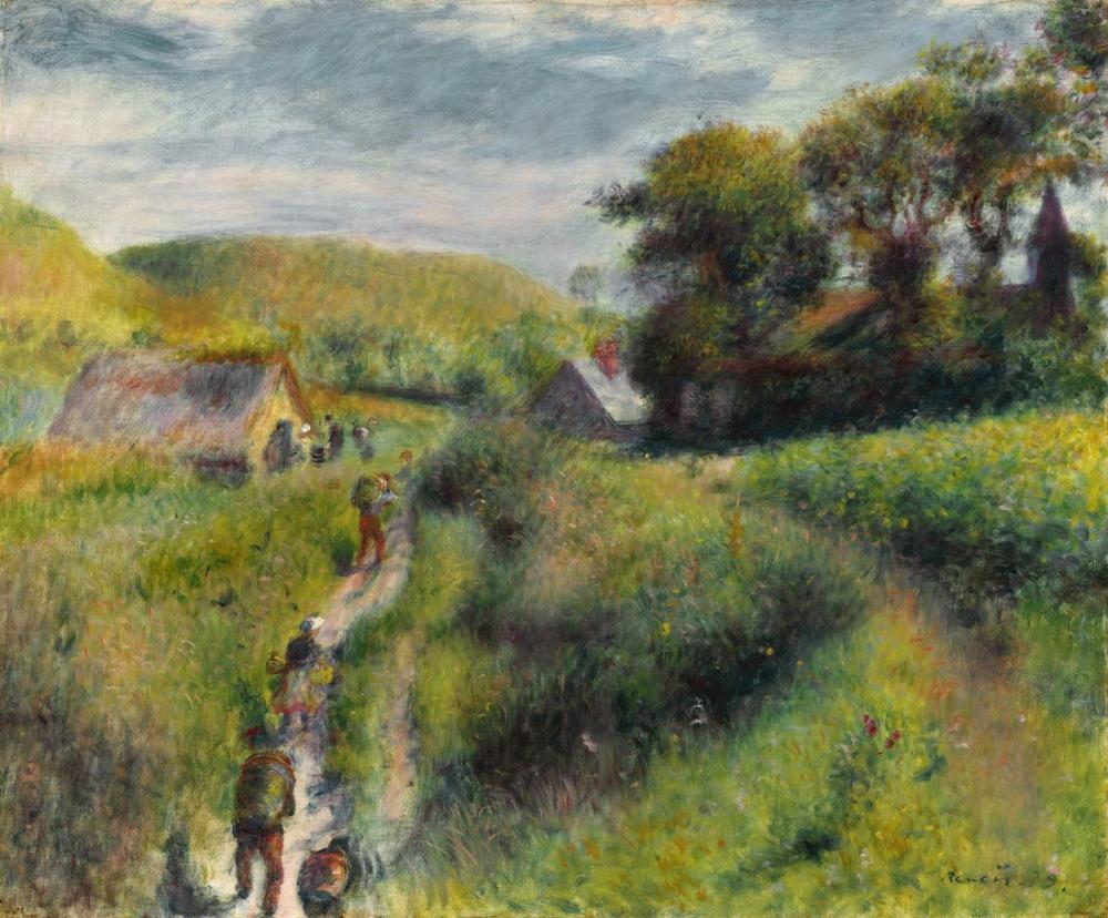 Pierre Auguste Renoir Les Vendangeurs, Canvas, Pierre Auguste Renoir, kanvas tablo, canvas print sales
