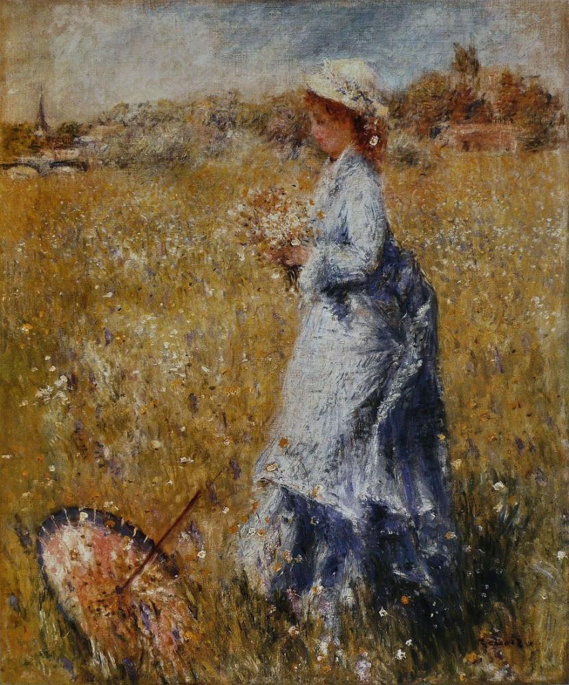 Pierre Auguste Renoir Ombrelle Renversee, Canvas, Pierre Auguste Renoir, kanvas tablo, canvas print sales