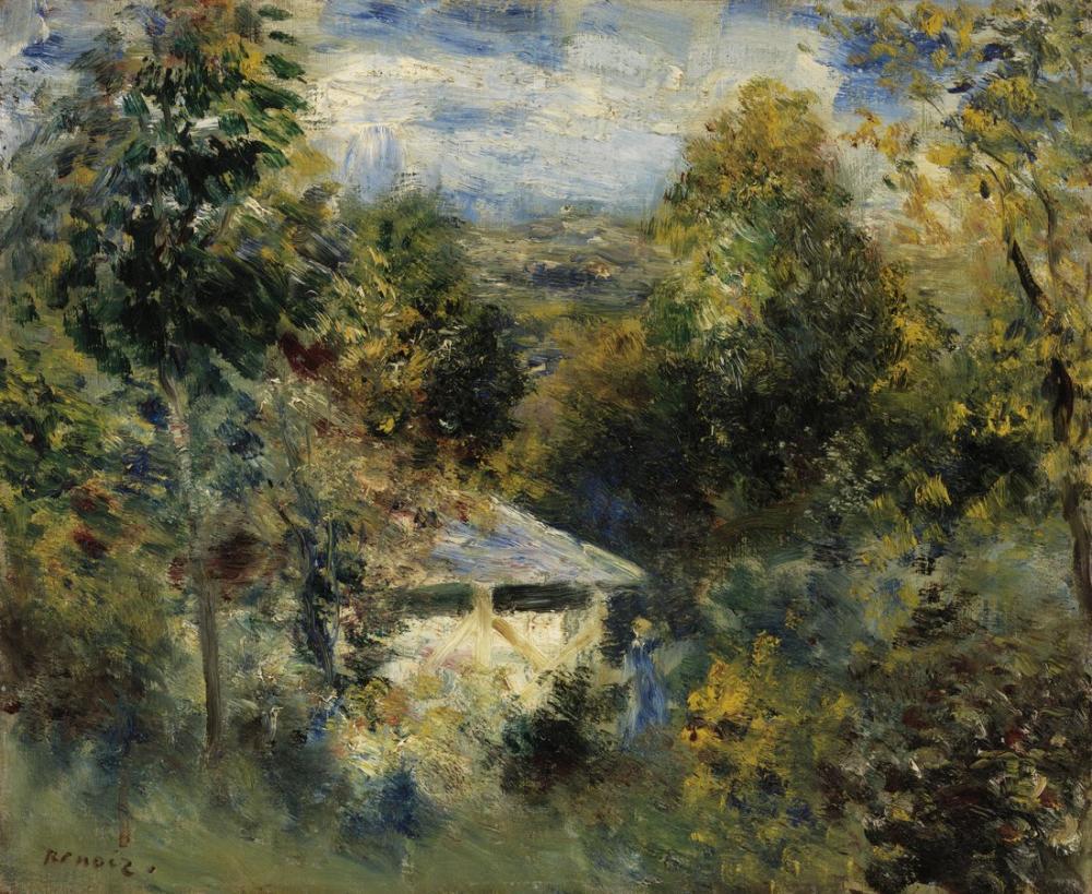 Pierre Auguste Renoir Louveciennes, Canvas, Pierre Auguste Renoir, kanvas tablo, canvas print sales