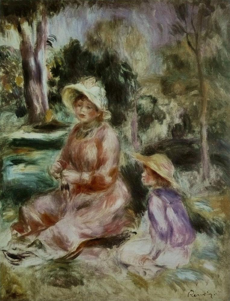 Pierre Auguste Renoir Madame Et Son Fils, Canvas, Pierre Auguste Renoir, kanvas tablo, canvas print sales