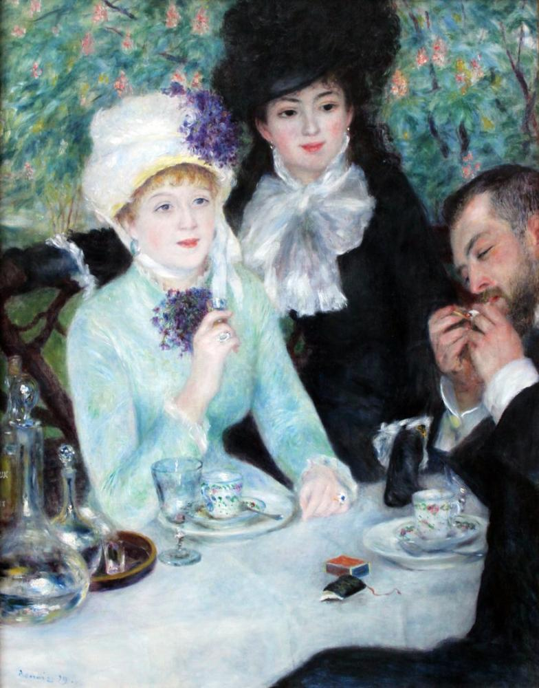 Pierre Auguste Renoir After The Lunch Anagoria 1879, Canvas, Pierre Auguste Renoir, kanvas tablo, canvas print sales