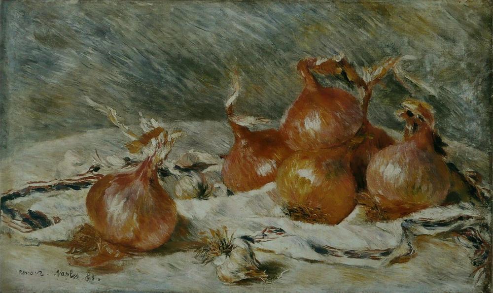 Pierre Auguste Renoir Oignons, Canvas, Pierre Auguste Renoir, kanvas tablo, canvas print sales
