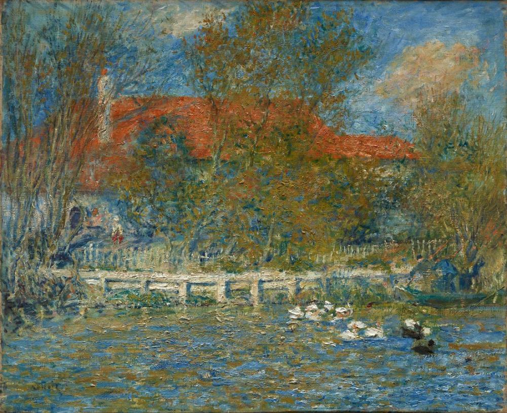 Pierre Auguste Renoir The Duck Pond 1873, Canvas, Pierre Auguste Renoir, kanvas tablo, canvas print sales
