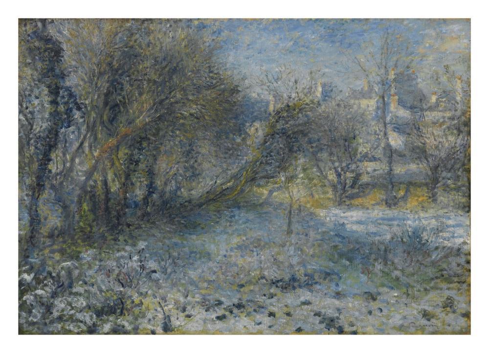 Pierre Auguste Renoir Snow View 1875, Canvas, Pierre Auguste Renoir, kanvas tablo, canvas print sales