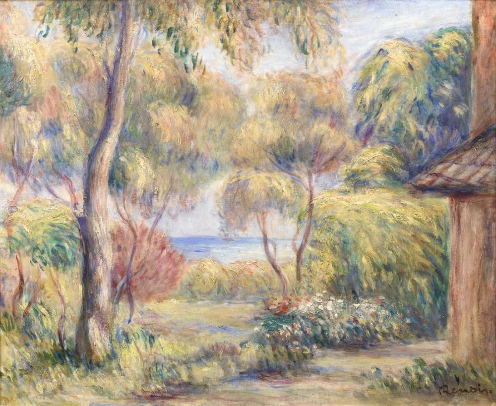 Pierre Auguste Renoir Landscape in Cagnes, Canvas, Pierre Auguste Renoir, kanvas tablo, canvas print sales