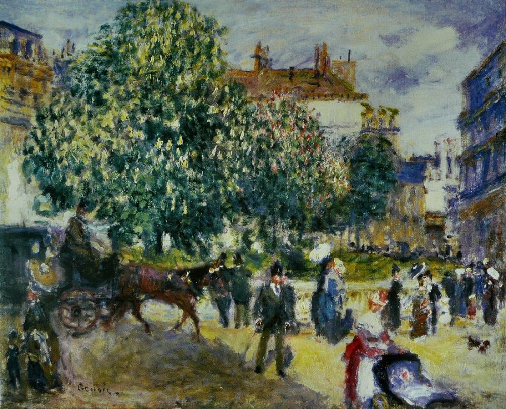 Pierre Auguste Renoir Trinity Square 2, Canvas, Pierre Auguste Renoir, kanvas tablo, canvas print sales