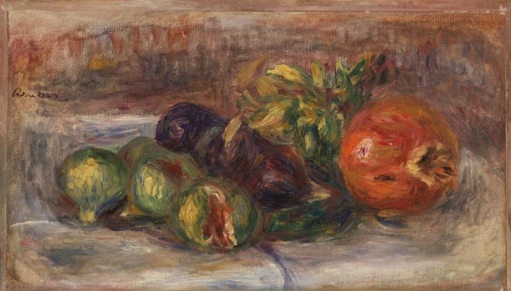 Pierre Auguste Renoir Pomegranate And Fig, Canvas, Pierre Auguste Renoir, kanvas tablo, canvas print sales