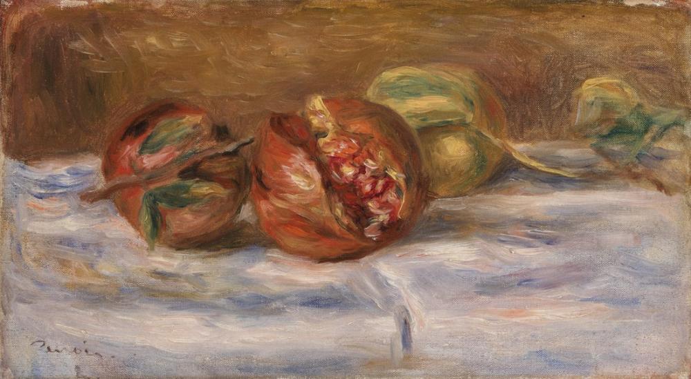 Pierre Auguste Renoir Pomegranates Grenades, Canvas, Pierre Auguste Renoir, kanvas tablo, canvas print sales