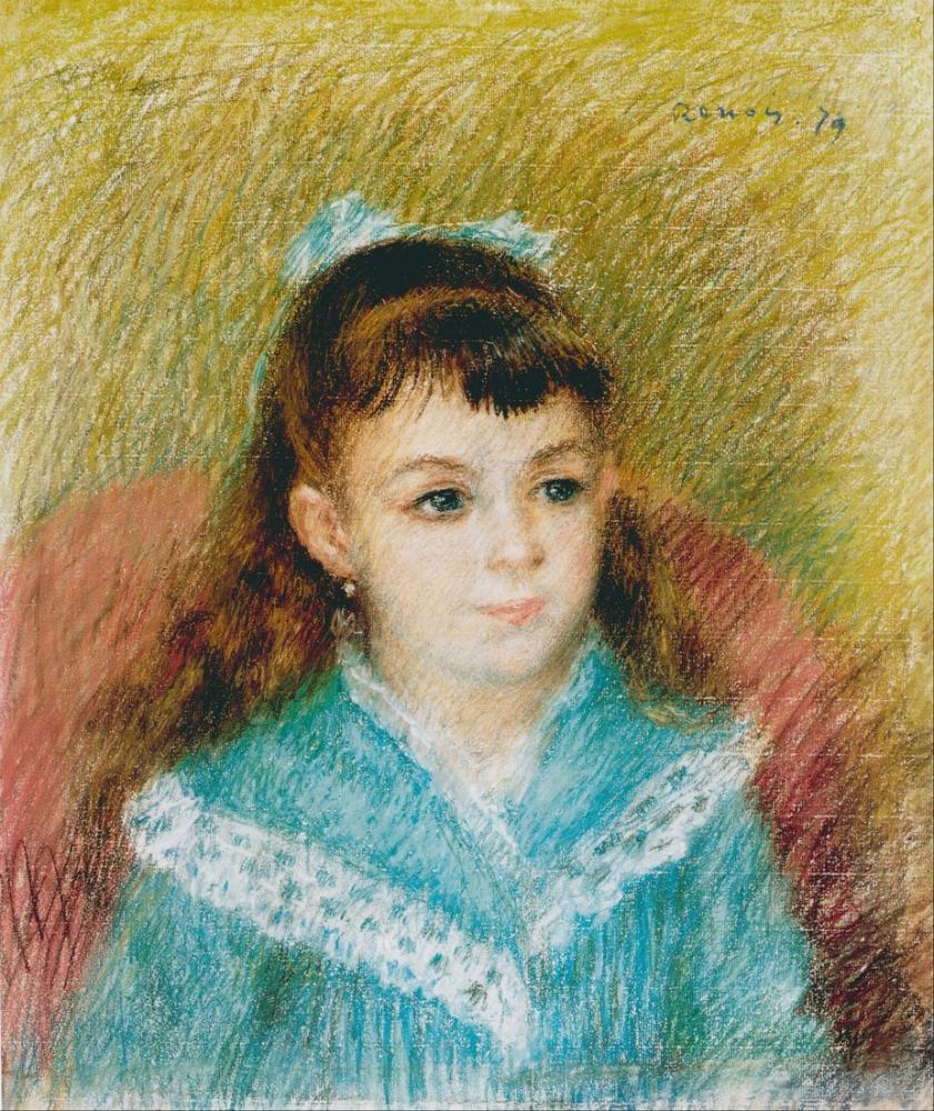 Pierre Auguste Renoir Portrait of a Young Girl Elisabeth Maître 1879, Canvas, Pierre Auguste Renoir, kanvas tablo, canvas print sales