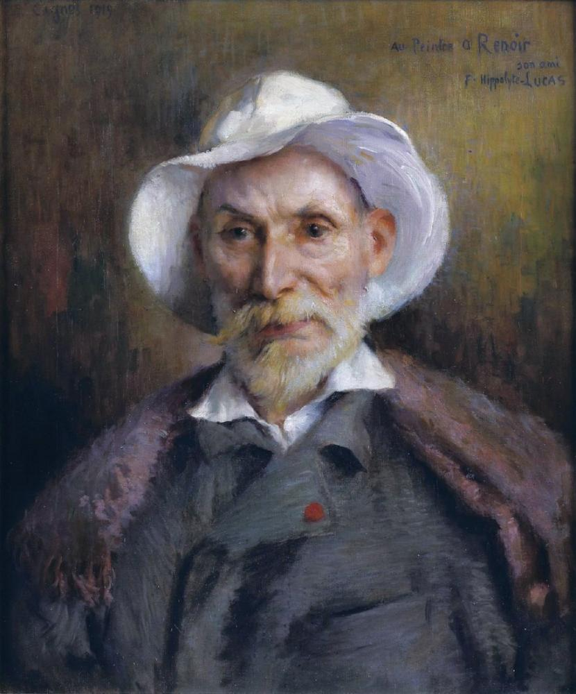 Pierre Auguste Renoir Portrait of By Marie Félix Hippolyte Lucas, Canvas, Pierre Auguste Renoir, kanvas tablo, canvas print sales