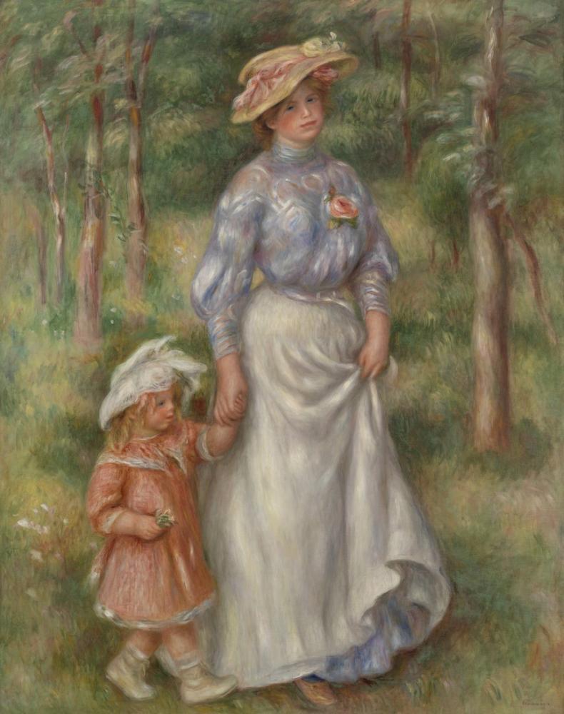 Pierre Auguste Renoir Promenade La Promenade, Canvas, Pierre Auguste Renoir, kanvas tablo, canvas print sales