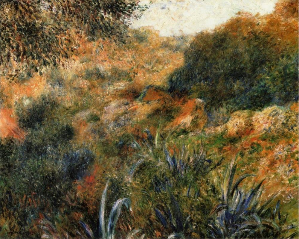 Pierre Auguste Renoir Ravin De La Femme Sauvage 1881, Canvas, Pierre Auguste Renoir, kanvas tablo, canvas print sales