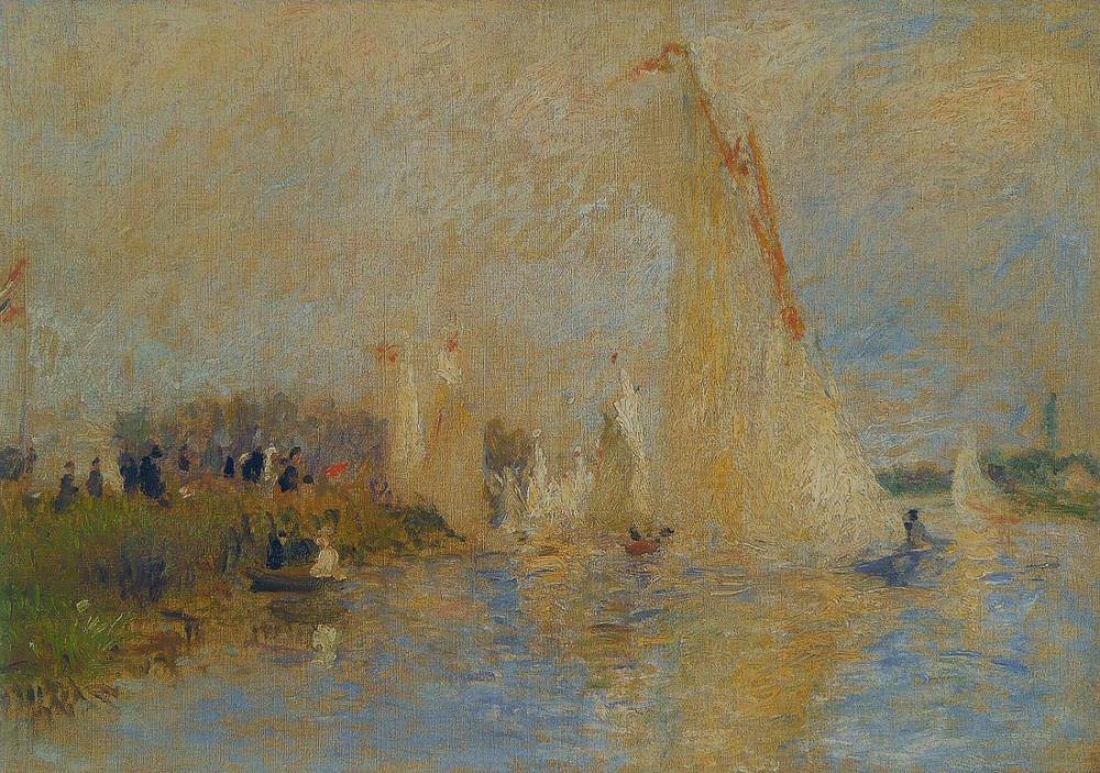 Pierre Auguste Renoir Regattas at Argenteuil, Canvas, Pierre Auguste Renoir, kanvas tablo, canvas print sales