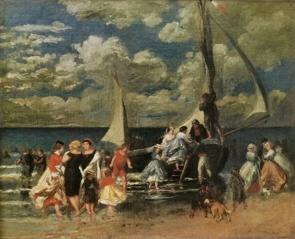 Pierre Auguste Renoir A Boat Party, Canvas, Pierre Auguste Renoir, kanvas tablo, canvas print sales