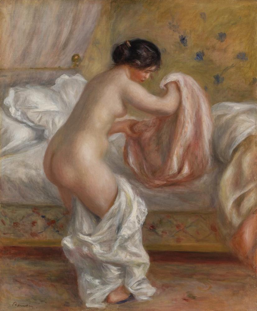 Pierre Auguste Renoir Rising Le Lever, Canvas, Pierre Auguste Renoir, kanvas tablo, canvas print sales