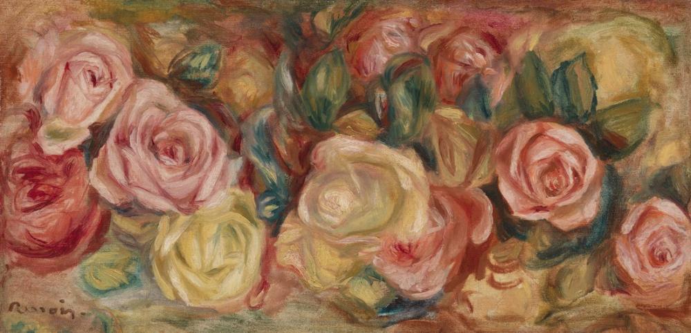 Pierre Auguste Renoir Roses, Canvas, Pierre Auguste Renoir, kanvas tablo, canvas print sales
