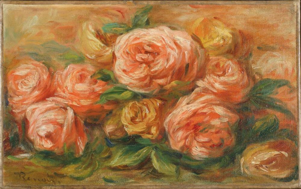 Pierre Auguste Renoir Rozen, Canvas, Pierre Auguste Renoir, kanvas tablo, canvas print sales