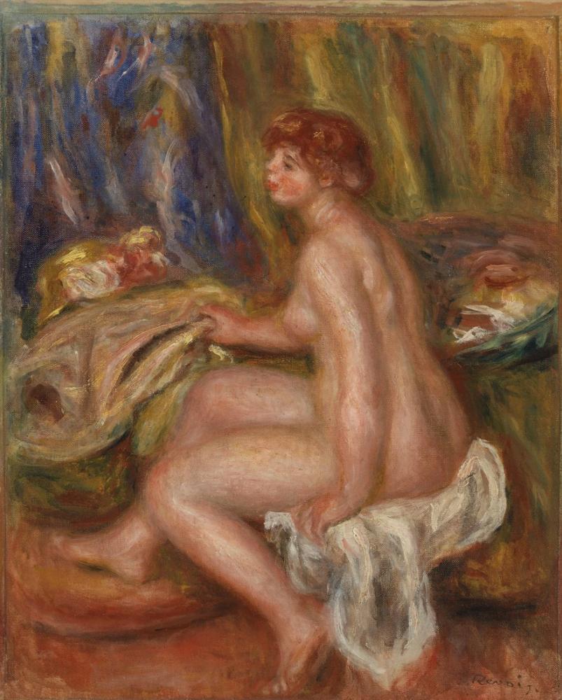 Pierre Auguste Renoir Seated Female Nude Profile View, Canvas, Pierre Auguste Renoir, kanvas tablo, canvas print sales