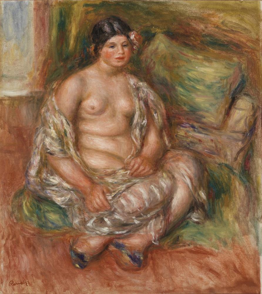 Pierre Auguste Renoir Seated Odalisque, Canvas, Pierre Auguste Renoir, kanvas tablo, canvas print sales