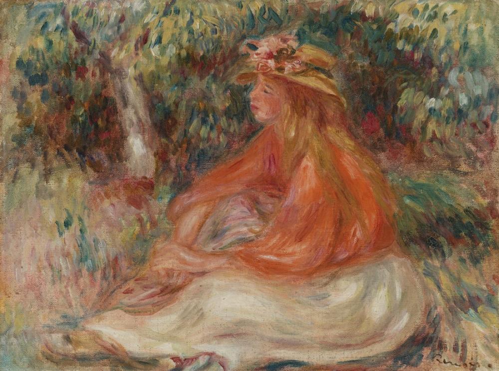 Pierre Auguste Renoir Seated Woman, Figure, Pierre Auguste Renoir, kanvas tablo, canvas print sales