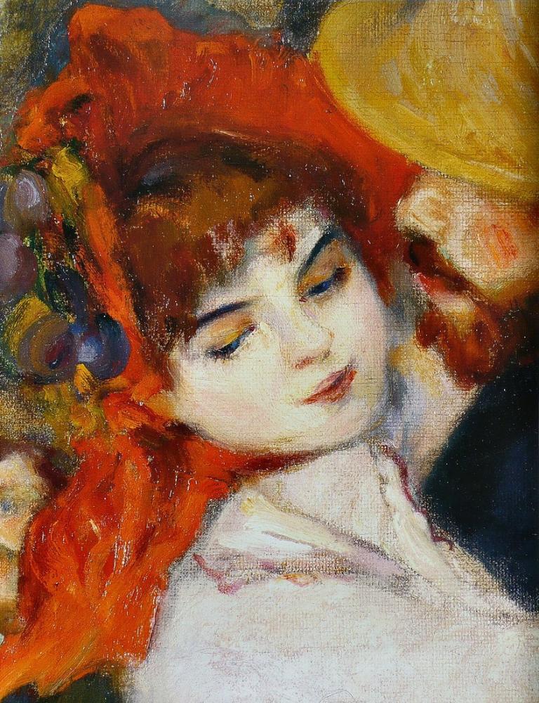 Pierre Auguste Renoir Suzanne Valadon Dance at Bougival Detail, Canvas, Pierre Auguste Renoir, kanvas tablo, canvas print sales
