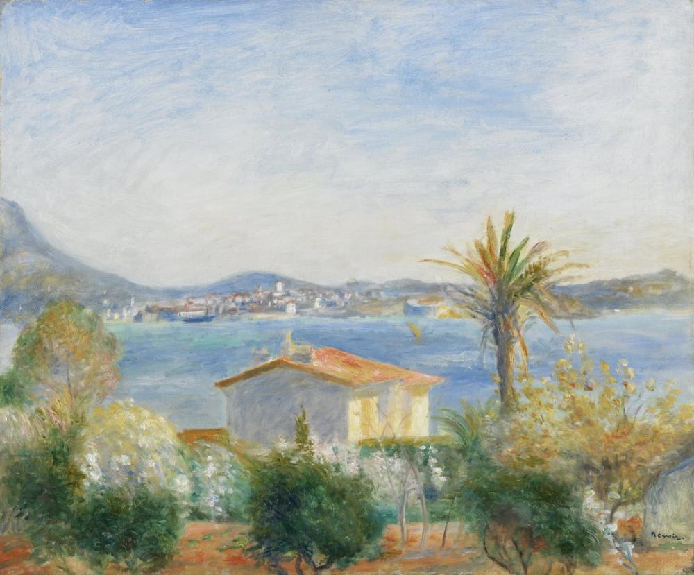 Pierre Auguste Renoir Tamaris Fransa, Canvas, Pierre Auguste Renoir, kanvas tablo, canvas print sales