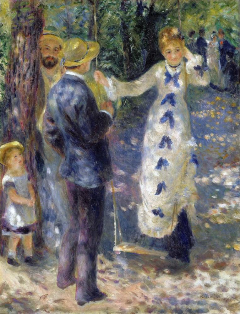 Pierre Auguste Renoir Swing, Canvas, Pierre Auguste Renoir, kanvas tablo, canvas print sales