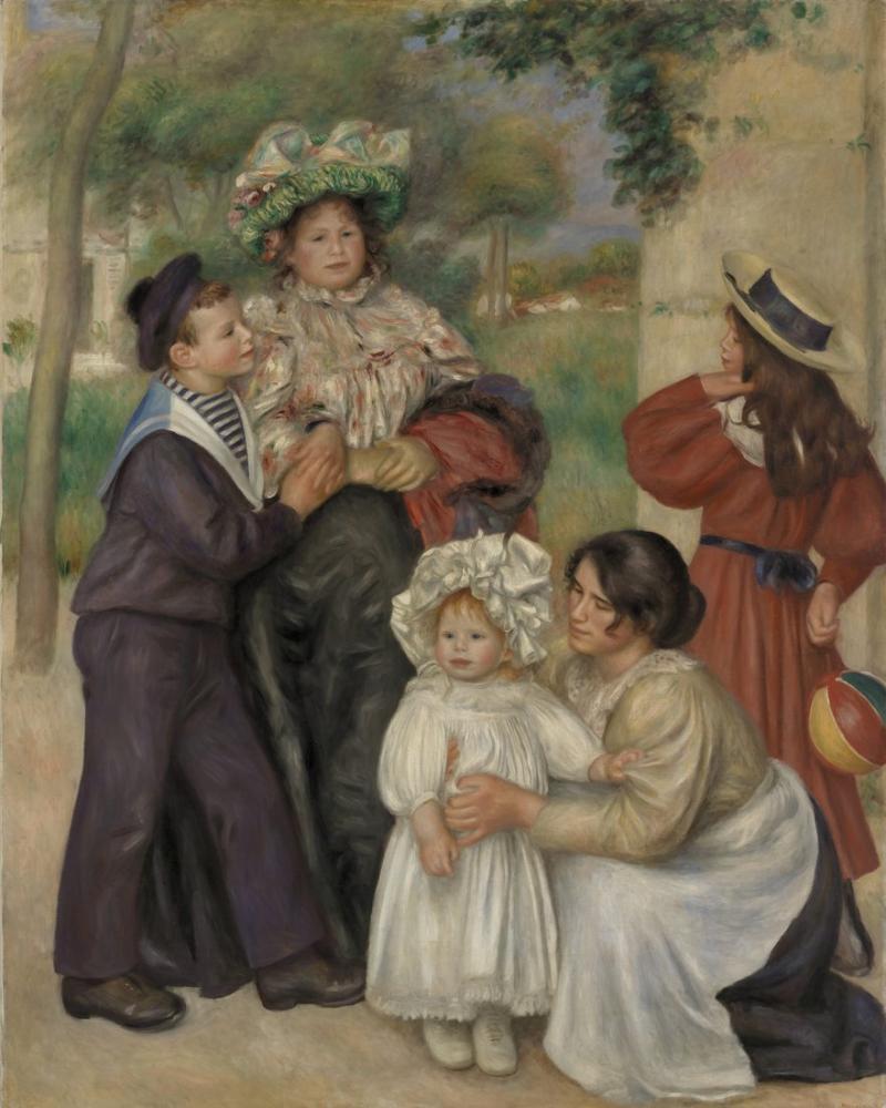 Pierre Auguste Renoir The Artists Family, Canvas, Pierre Auguste Renoir, kanvas tablo, canvas print sales