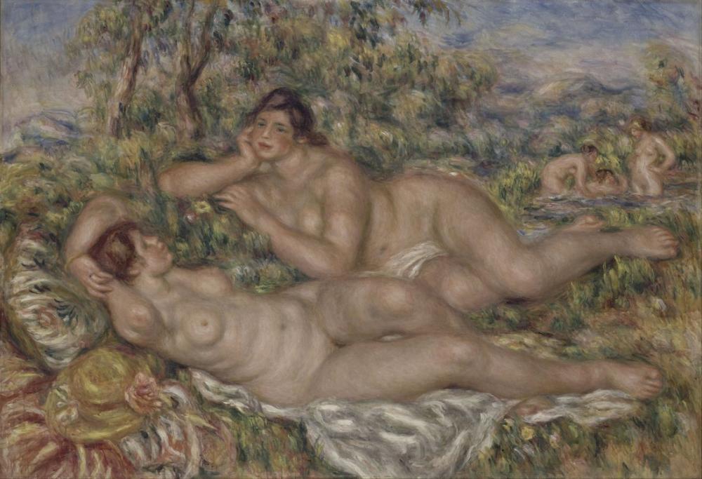 Pierre Auguste Renoir The Bathers, Canvas, Pierre Auguste Renoir, kanvas tablo, canvas print sales