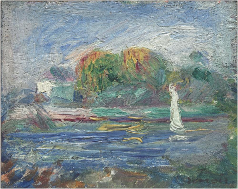 Pierre Auguste Renoir The Blue River, Canvas, Pierre Auguste Renoir, kanvas tablo, canvas print sales