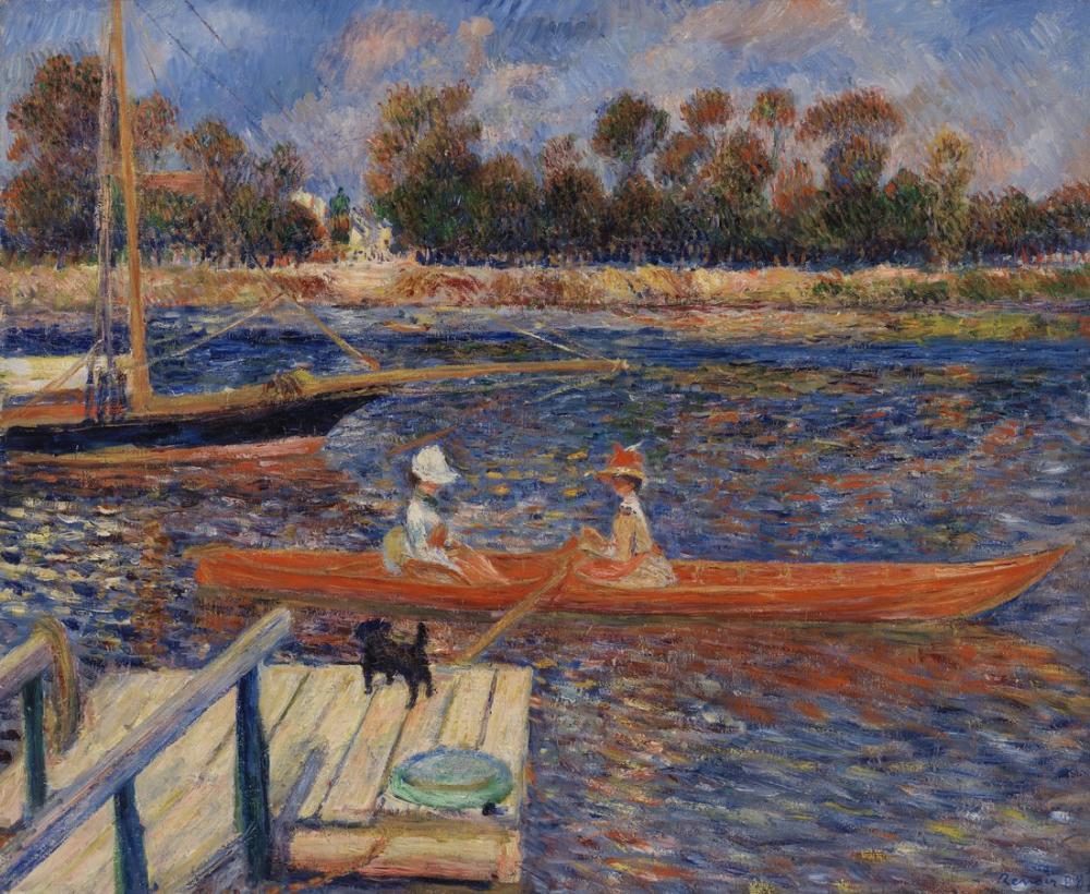 Pierre Auguste Renoir The Seine at Argenteuil, Canvas, Pierre Auguste Renoir, kanvas tablo, canvas print sales