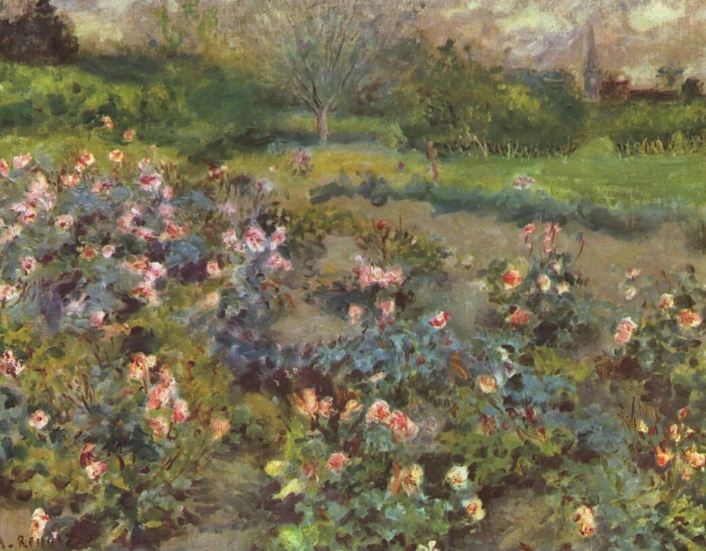 Pierre Auguste Renoir Rose Garden, Canvas, Pierre Auguste Renoir, kanvas tablo, canvas print sales
