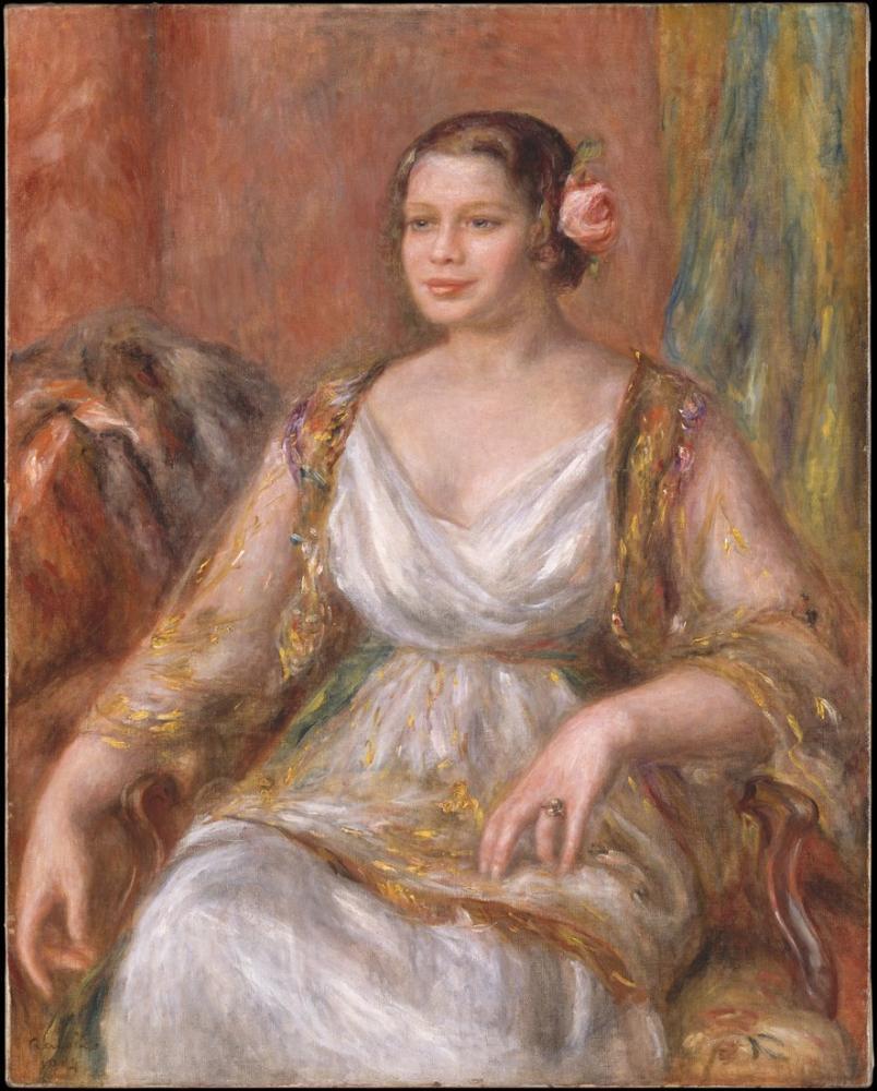 Pierre Auguste Renoir Tilla Durieux Ottilie Godeffroy 1880, Canvas, Pierre Auguste Renoir, kanvas tablo, canvas print sales