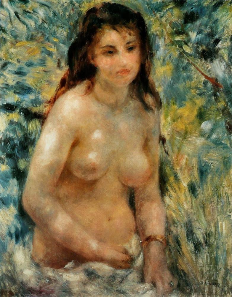 Pierre Auguste Renoir Torse Effet De Soleil, Canvas, Pierre Auguste Renoir, kanvas tablo, canvas print sales