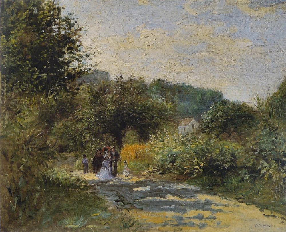 Pierre Auguste Renoir A Road to Louveciennes, Canvas, Pierre Auguste Renoir, kanvas tablo, canvas print sales