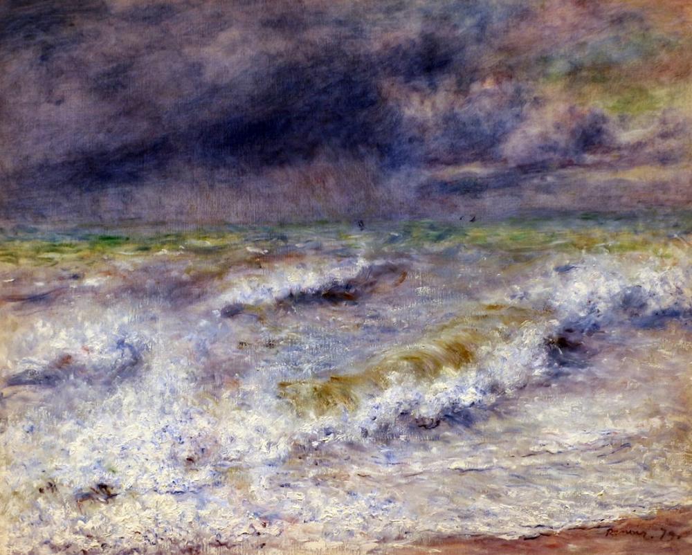 Pierre Auguste Renoir Veduta Marina 1879, Canvas, Pierre Auguste Renoir, kanvas tablo, canvas print sales