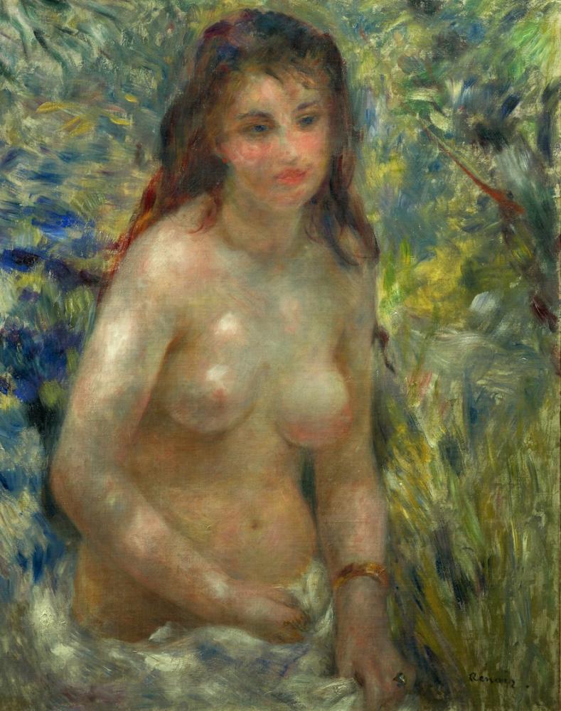 Pierre Auguste Renoir Nude in Sunlight, Canvas, Pierre Auguste Renoir, kanvas tablo, canvas print sales