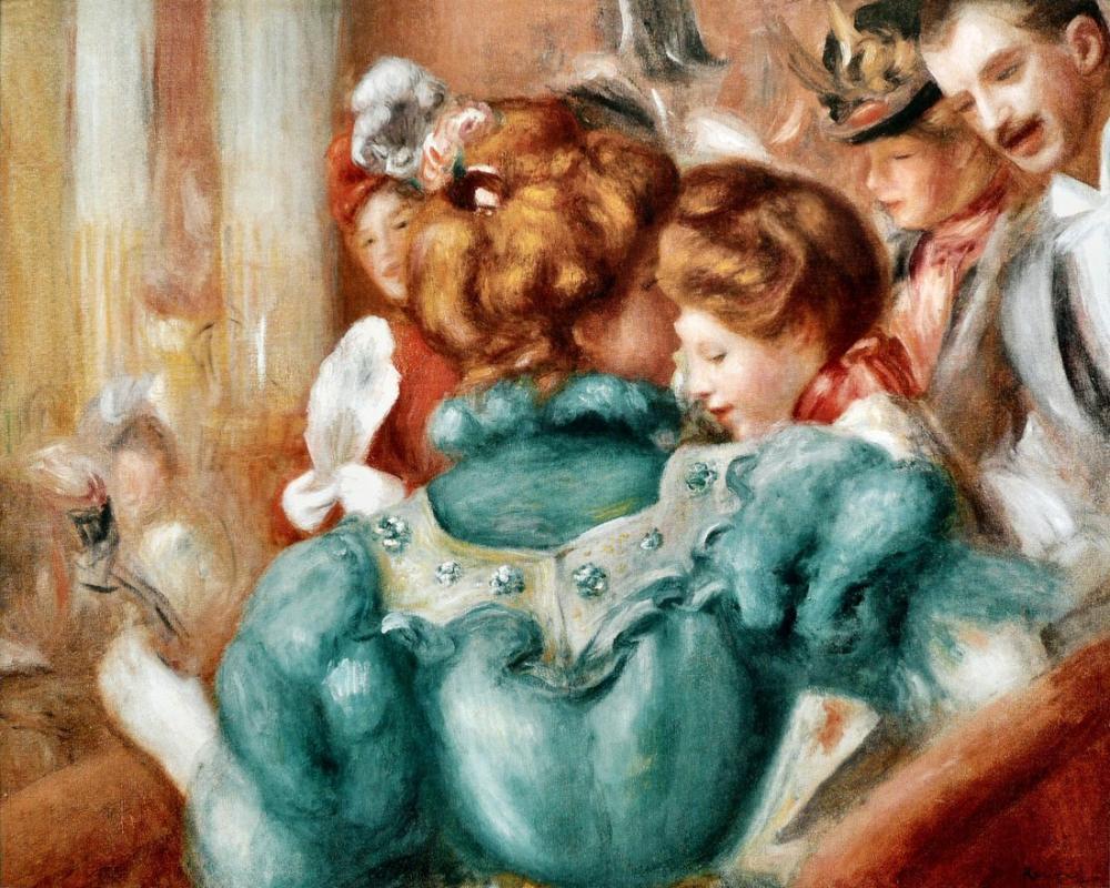 Pierre Auguste Renoir À La Loge, Canvas, Pierre Auguste Renoir, kanvas tablo, canvas print sales