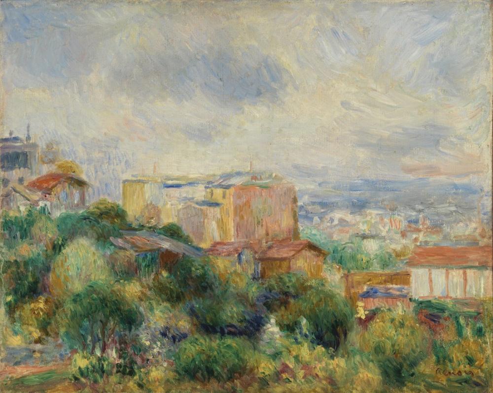 Pierre Auguste Renoir View From Montmartre, Canvas, Pierre Auguste Renoir, kanvas tablo, canvas print sales