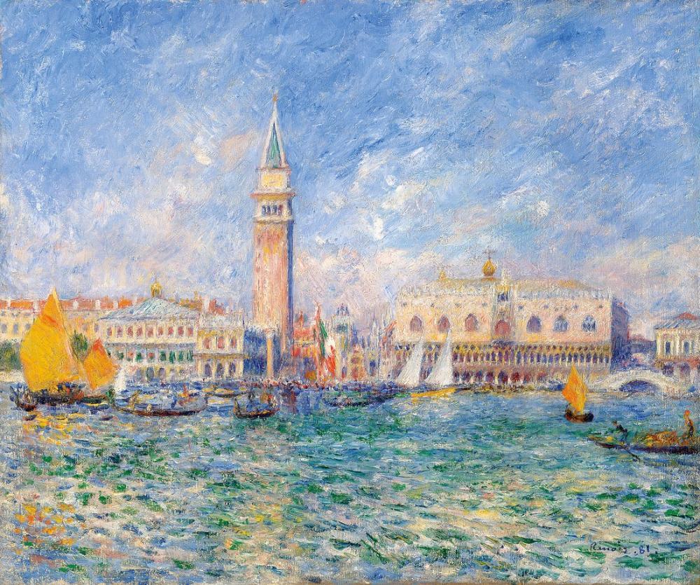 Pierre Auguste Renoir Vue De Venise Le Palais des Doges 1881, Canvas, Pierre Auguste Renoir, kanvas tablo, canvas print sales