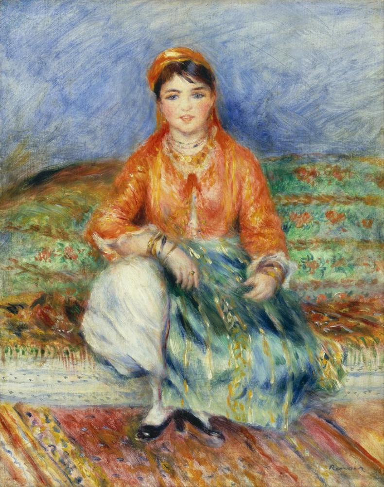 Pierre Auguste Renoir Algerian Girl, Canvas, Pierre Auguste Renoir, kanvas tablo, canvas print sales