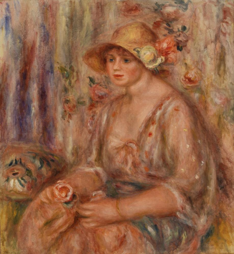 Pierre Auguste Renoir Woman in Muslin Dress, Canvas, Pierre Auguste Renoir, kanvas tablo, canvas print sales