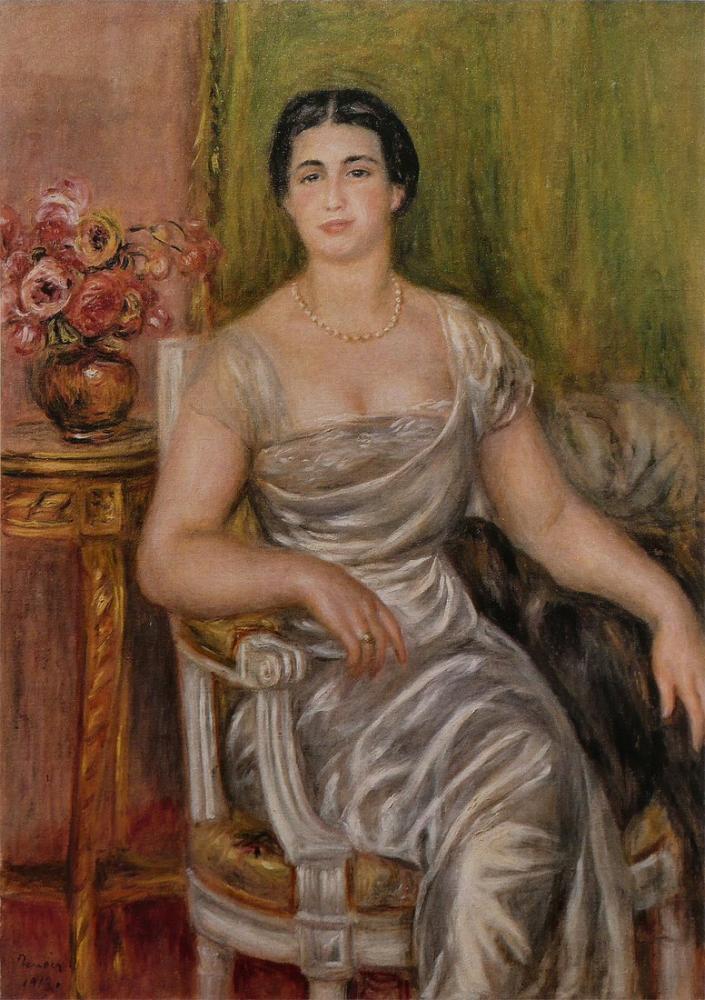 Pierre Auguste Renoir Alice Vallieres Merzbach, Canvas, Pierre Auguste Renoir, kanvas tablo, canvas print sales