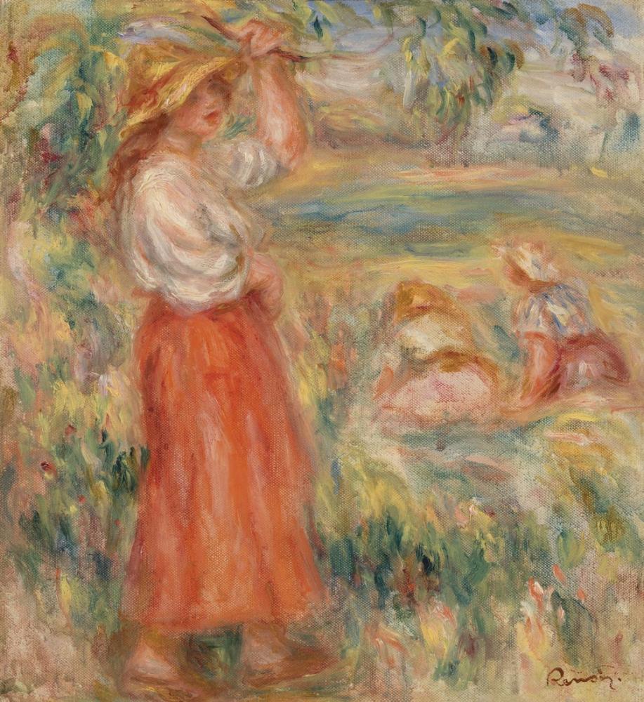 Pierre Auguste Renoir Women in the Fields, Canvas, Pierre Auguste Renoir, kanvas tablo, canvas print sales