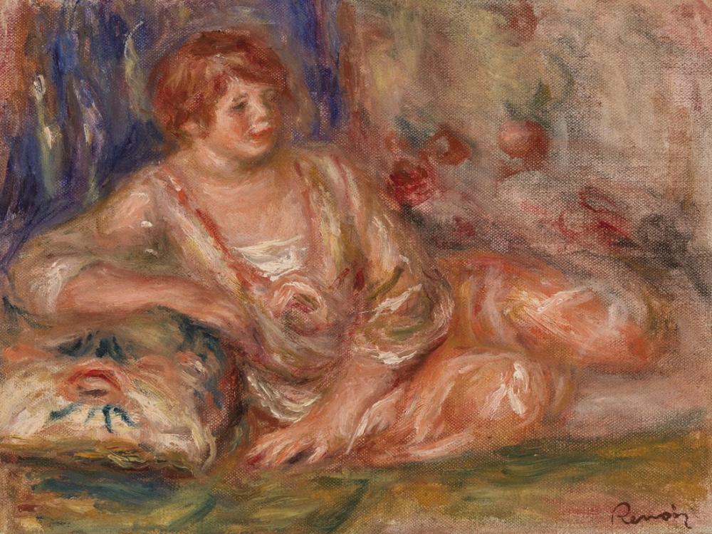 Pierre Auguste Renoir Andree in Pink Reclining, Canvas, Pierre Auguste Renoir, kanvas tablo, canvas print sales